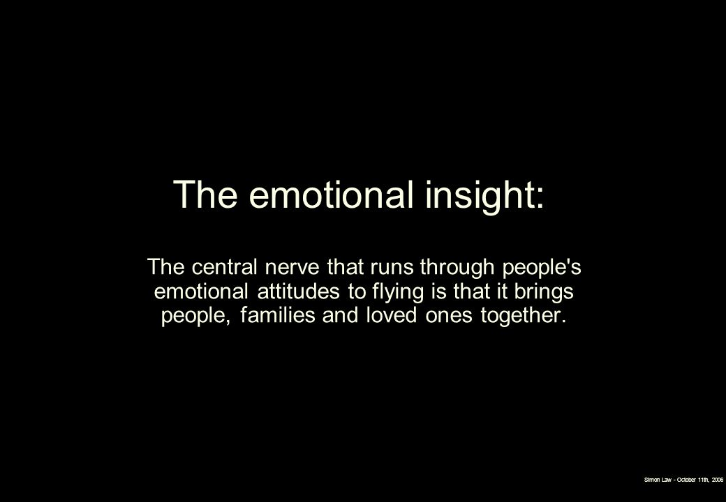 The emotional insight: