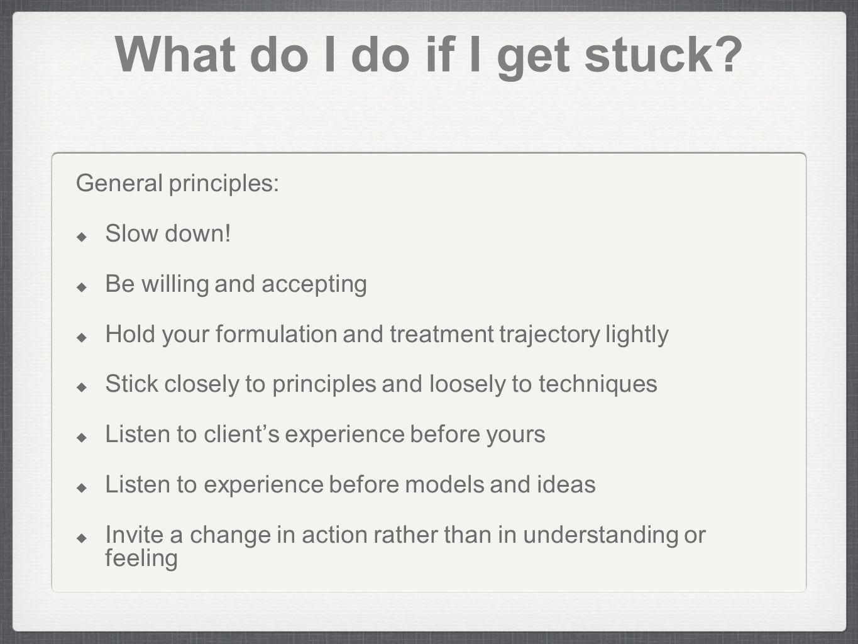 What do I do if I get stuck