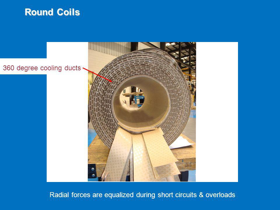 Round Coils 360 degree cooling ducts