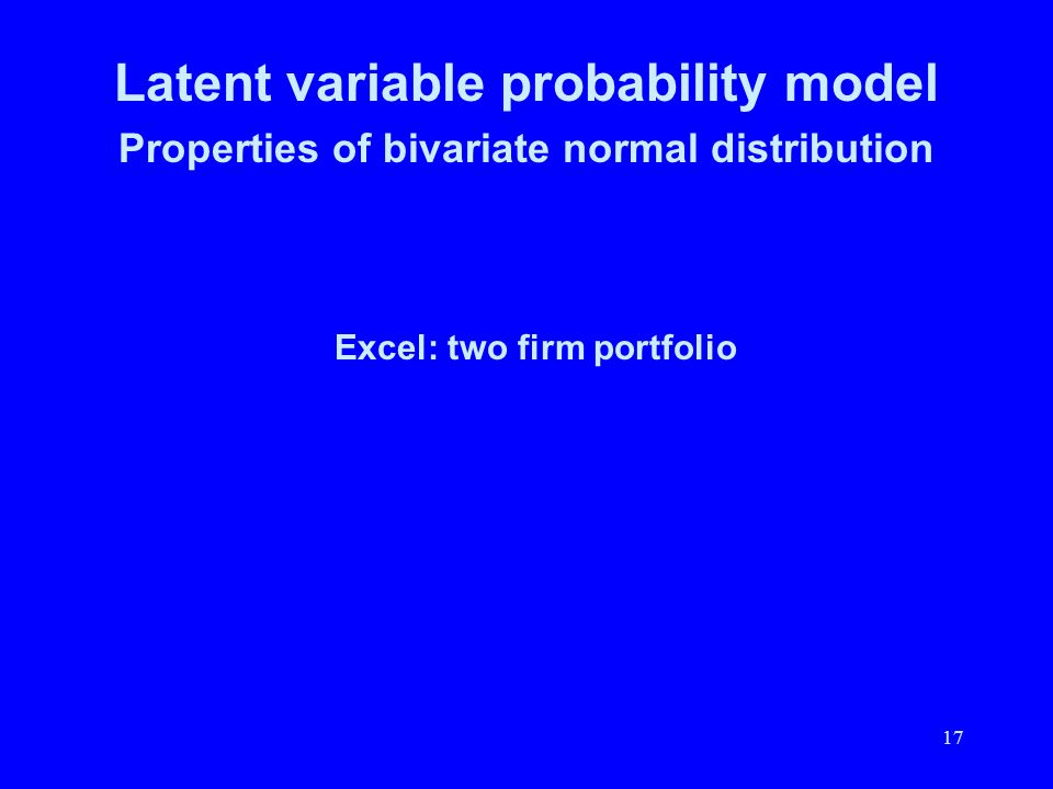 Latent variable probability model