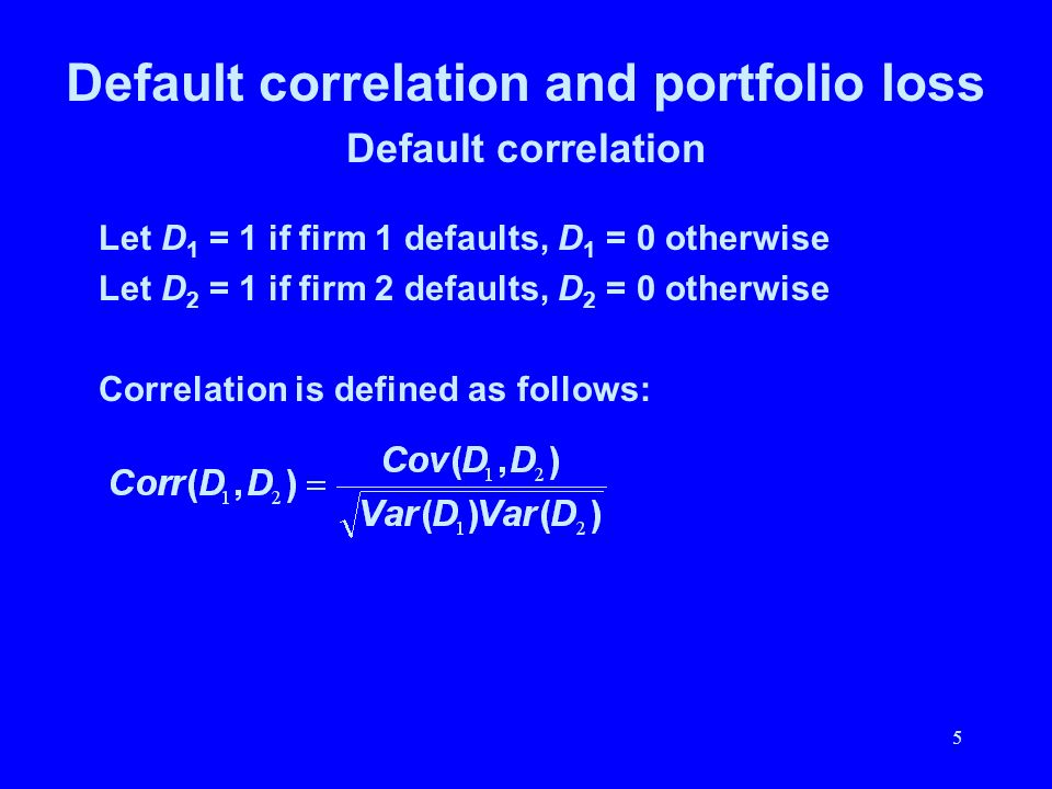 Default correlation and portfolio loss