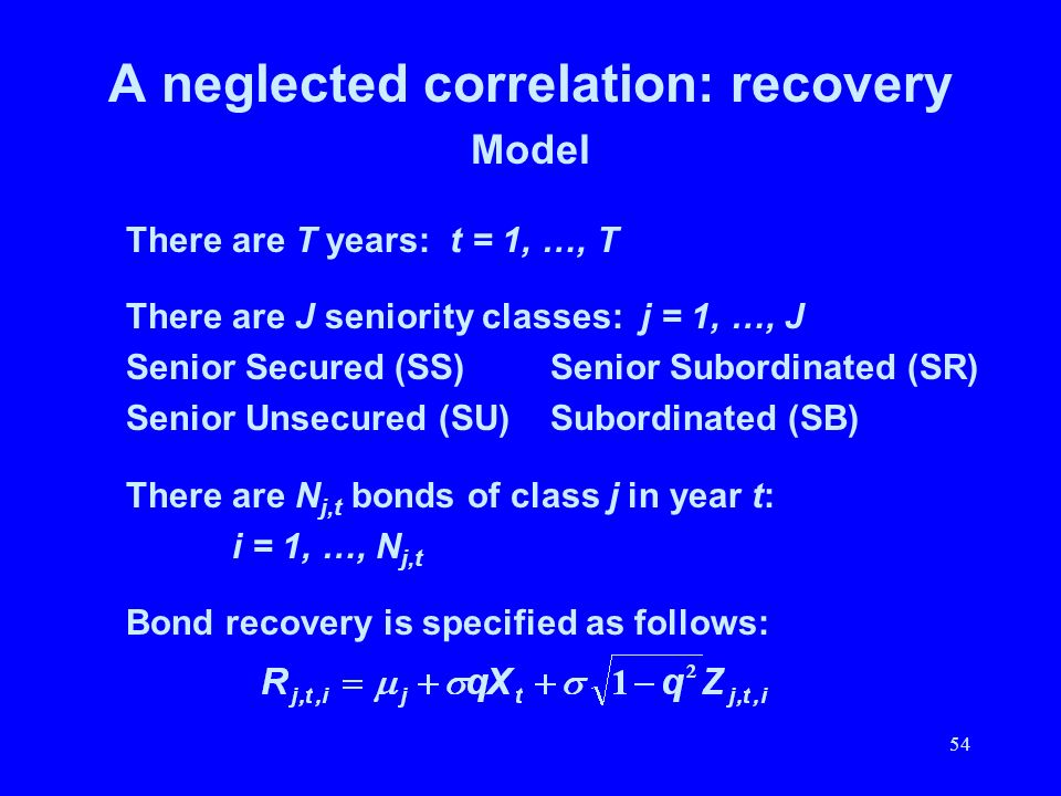 A neglected correlation: recovery
