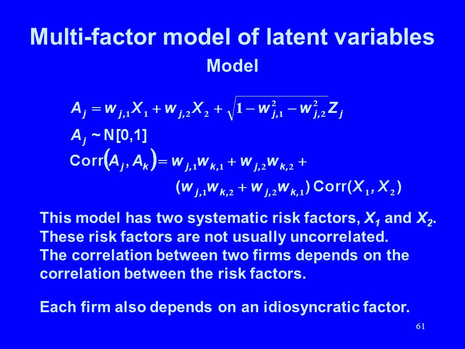Multi-factor model of latent variables