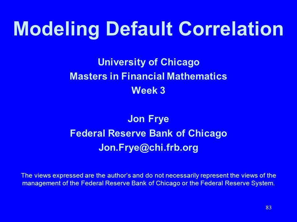 Modeling Default Correlation