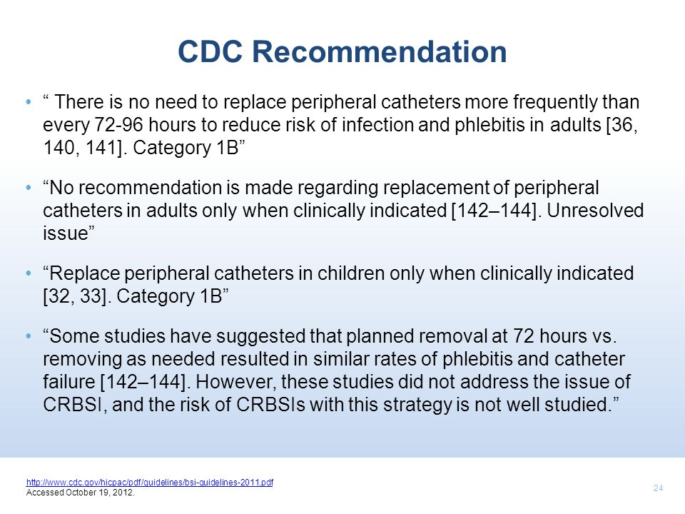 CDC Recommendation
