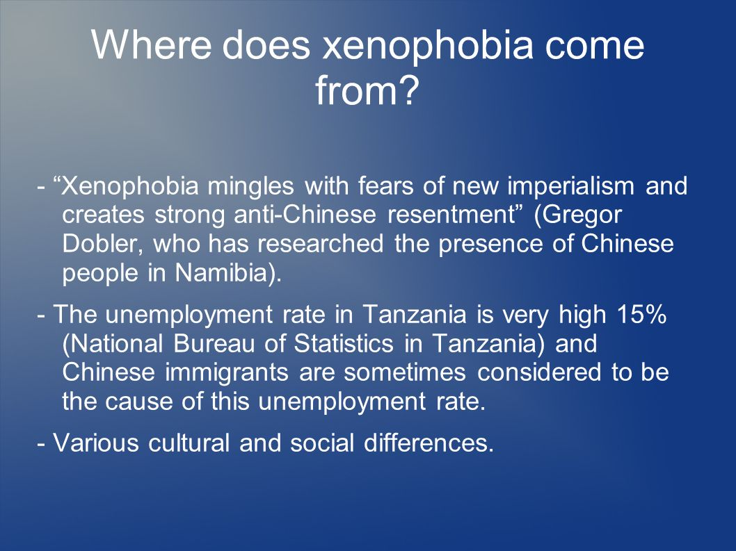 Where does xenophobia come from