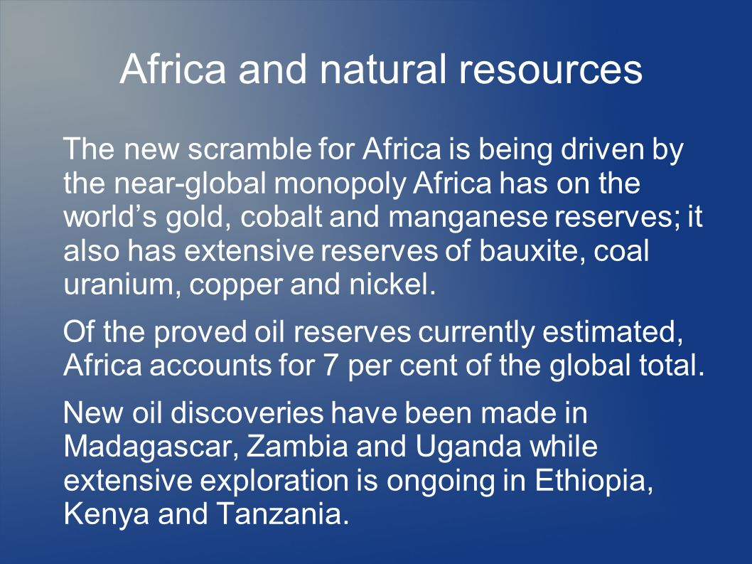 Africa and natural resources