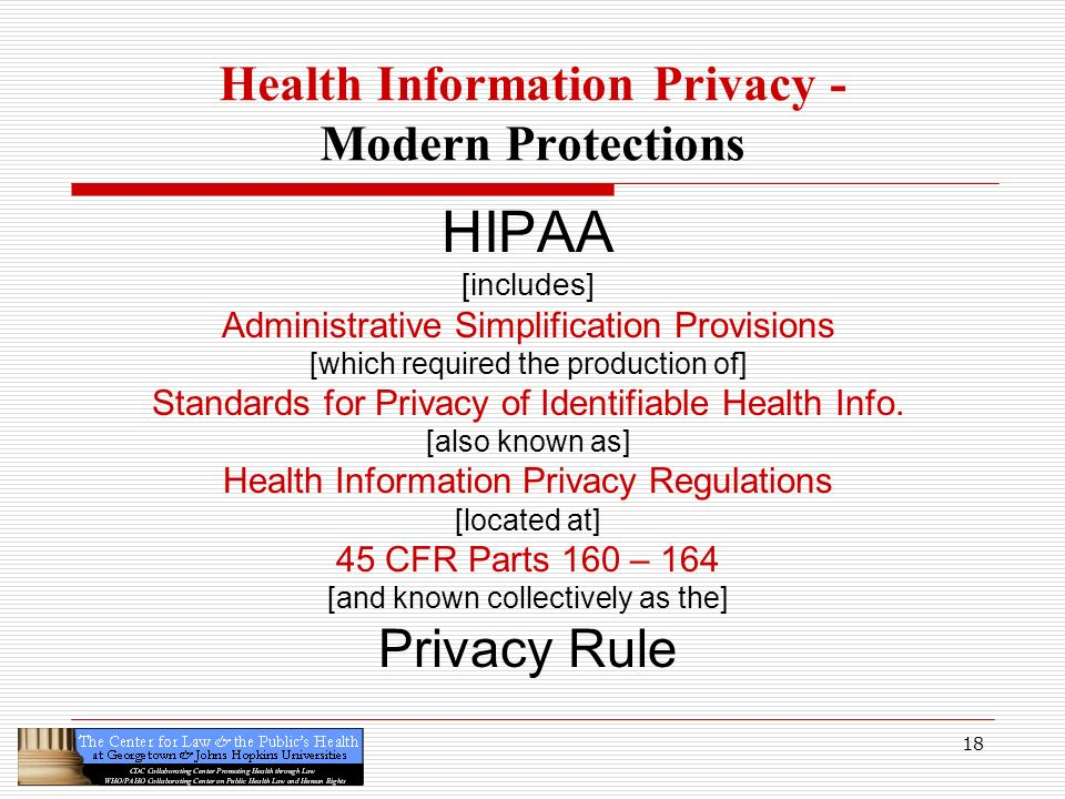 Health Information Privacy - Modern Protections