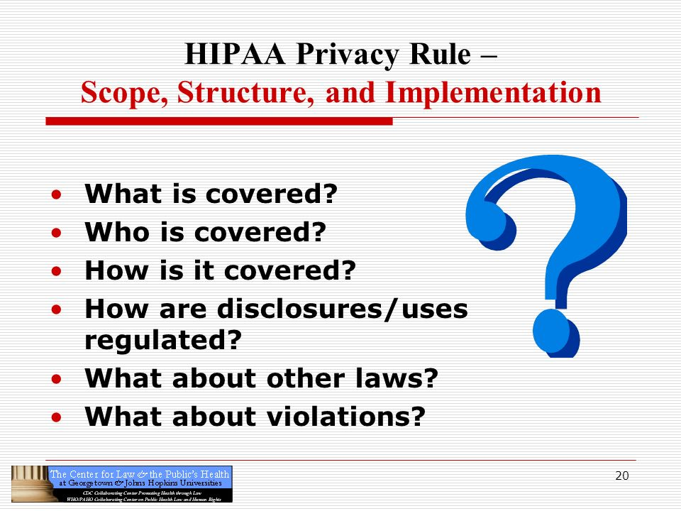 HIPAA Privacy Rule – Scope, Structure, and Implementation