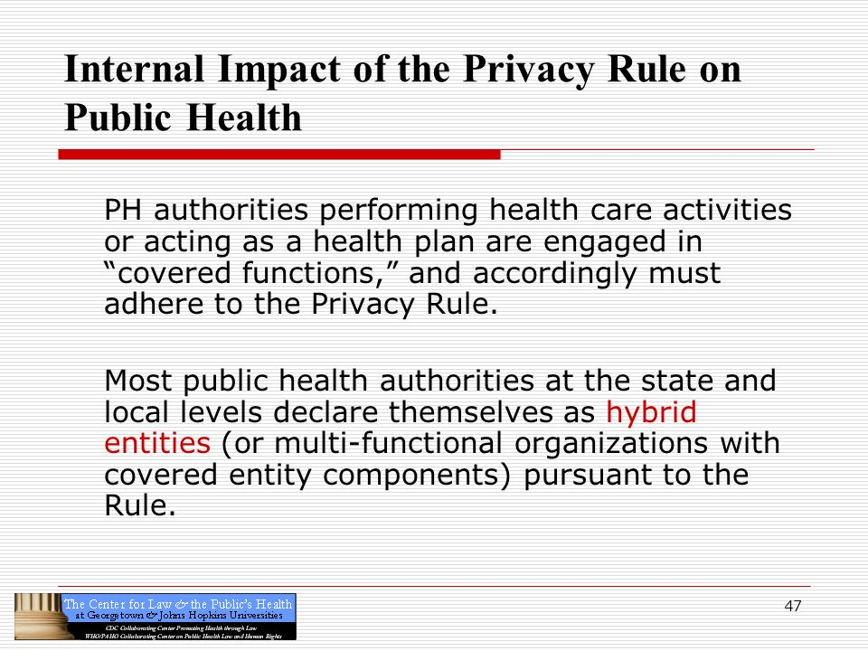 health care and privacy rule This chapter provides an overview of the development of the health insurance  portability and accountability act (hipaa) privacy rule and describes how it.