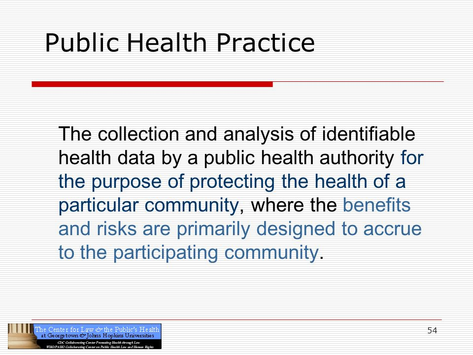 Public Health Practice