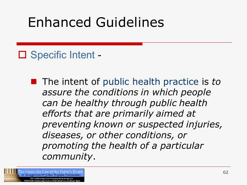 Enhanced Guidelines Specific Intent -