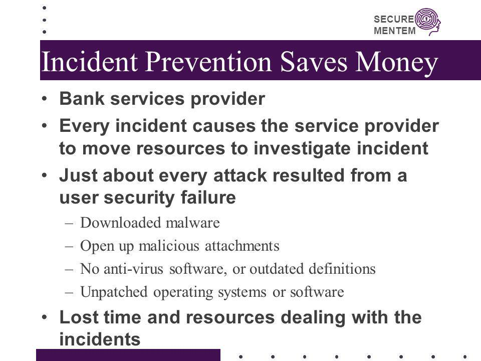 Incident Prevention Saves Money