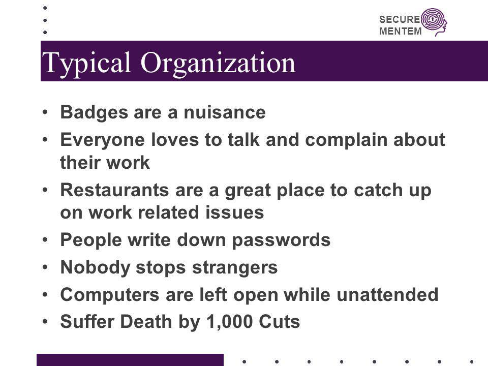 Typical Organization Badges are a nuisance