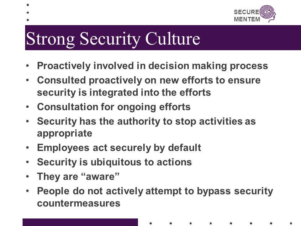 Strong Security Culture