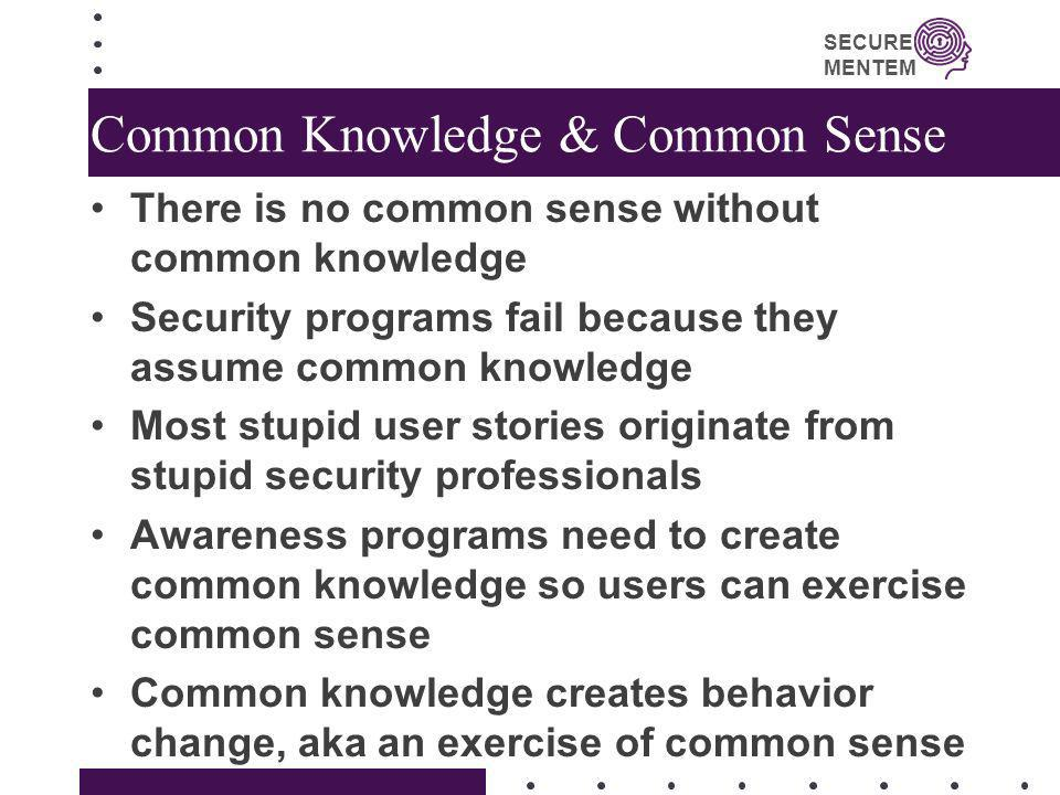Common Knowledge & Common Sense