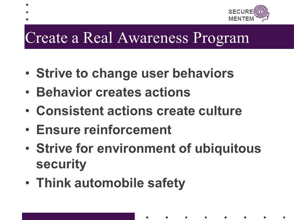 Create a Real Awareness Program