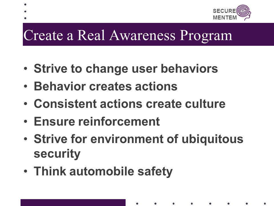 Create a Real Awareness Program