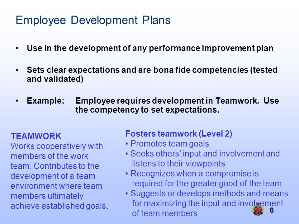 Employee Development Plans
