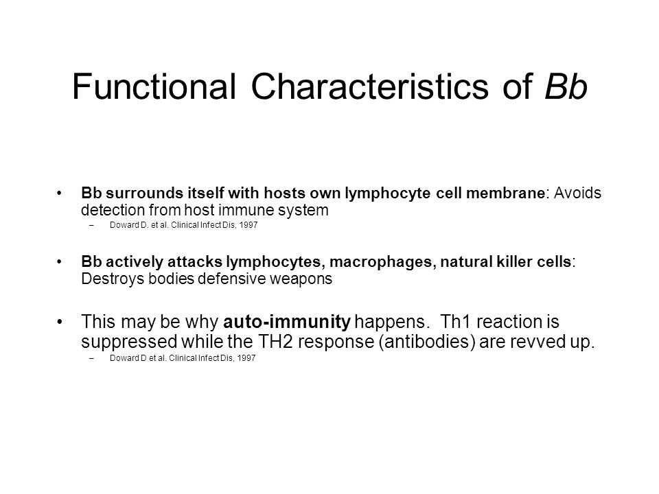 Functional Characteristics of Bb
