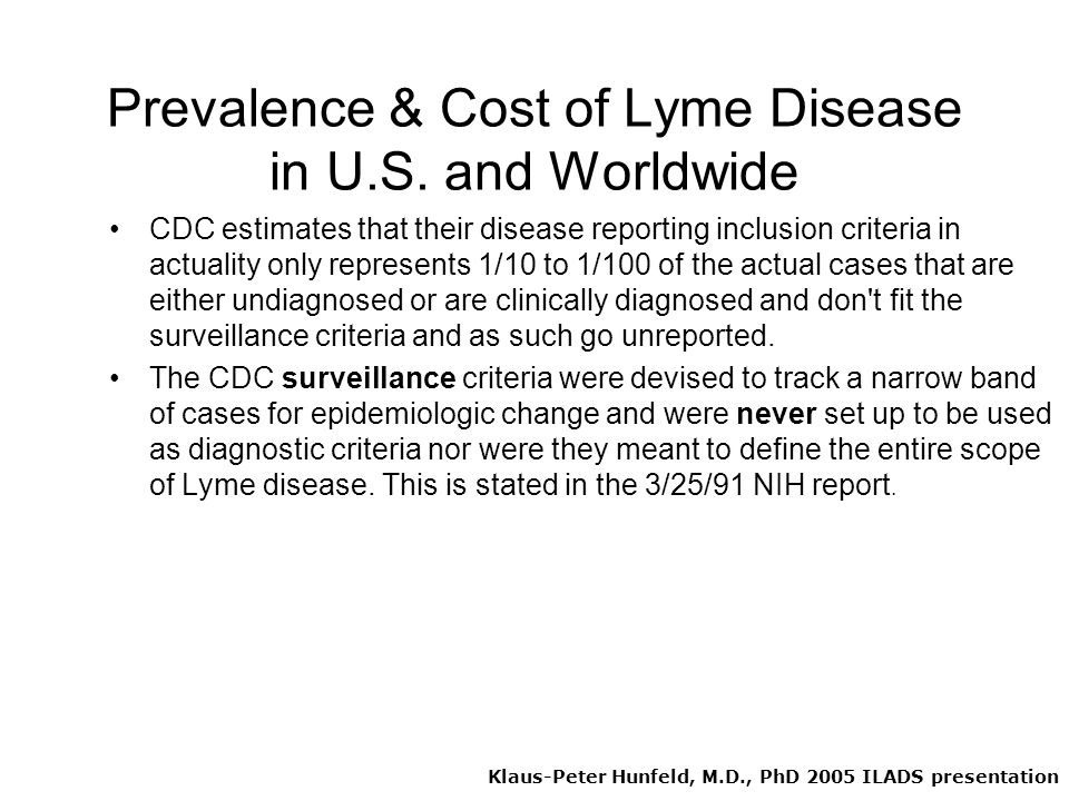 Prevalence & Cost of Lyme Disease in U.S. and Worldwide