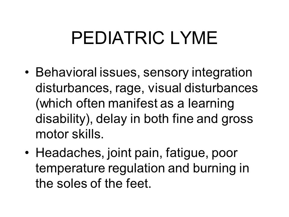 PEDIATRIC LYME