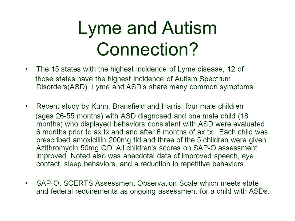 Lyme and Autism Connection