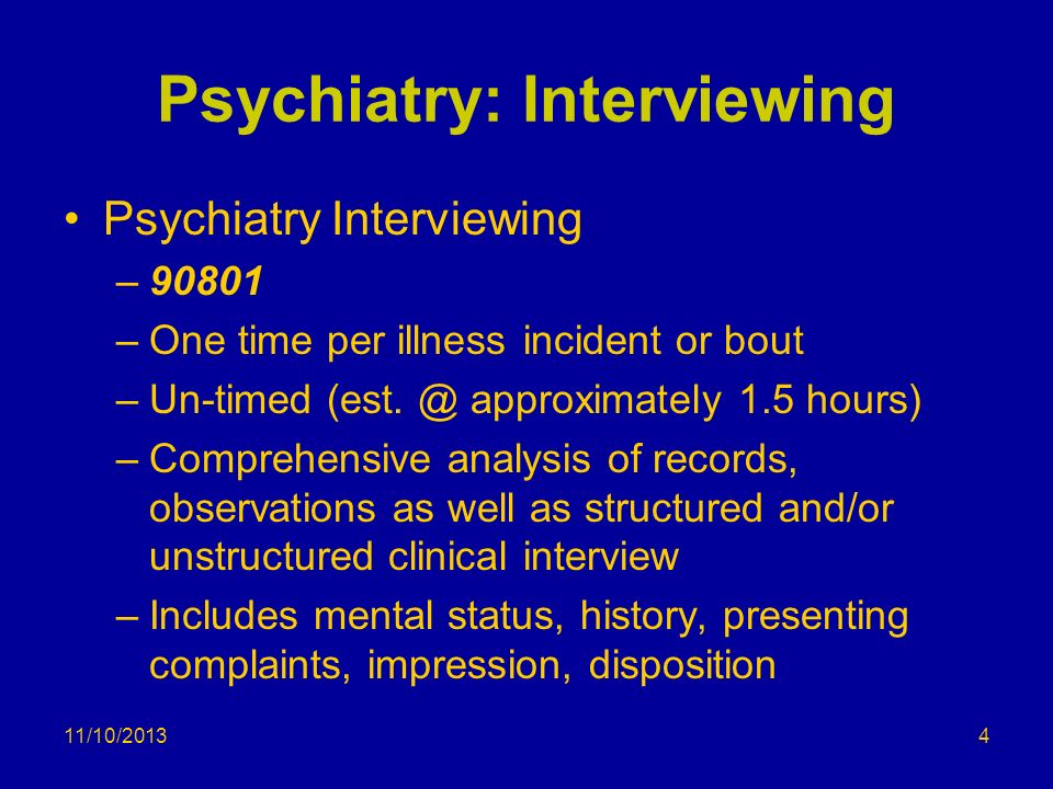 Psychiatry: Interviewing