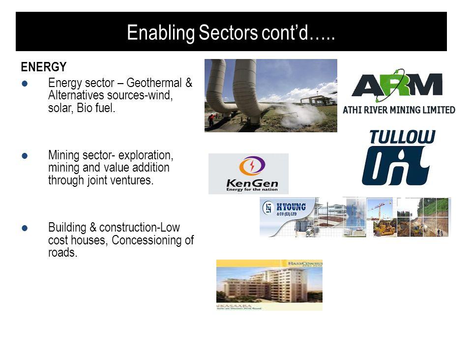 Enabling Sectors cont'd…..