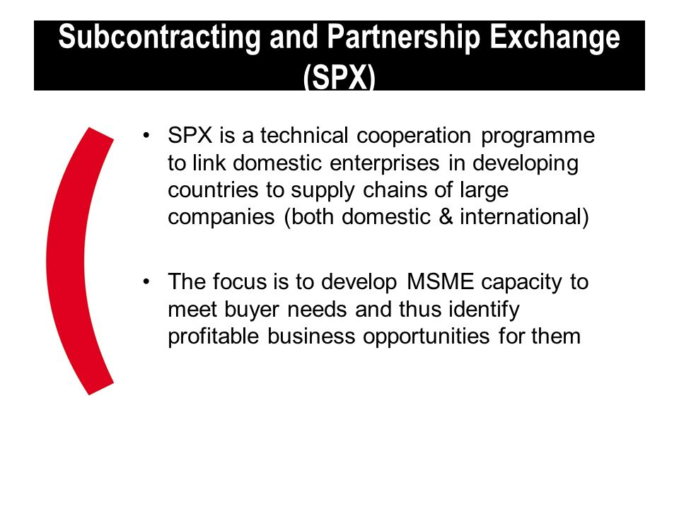 Subcontracting and Partnership Exchange (SPX)