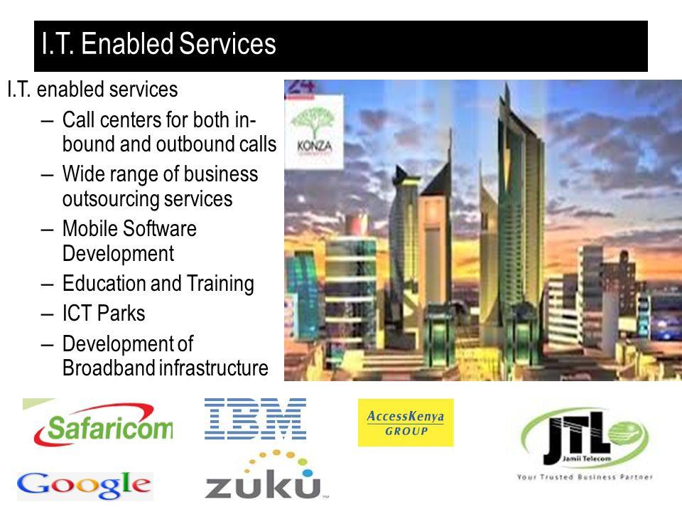 I.T. Enabled Services I.T. enabled services