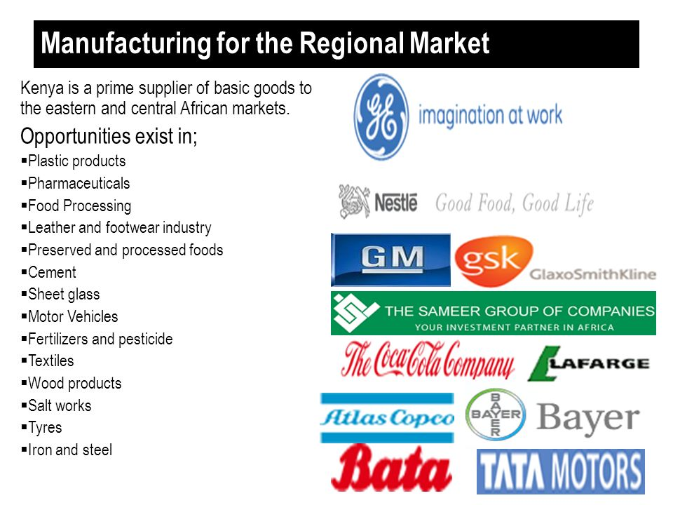 Manufacturing for the Regional Market