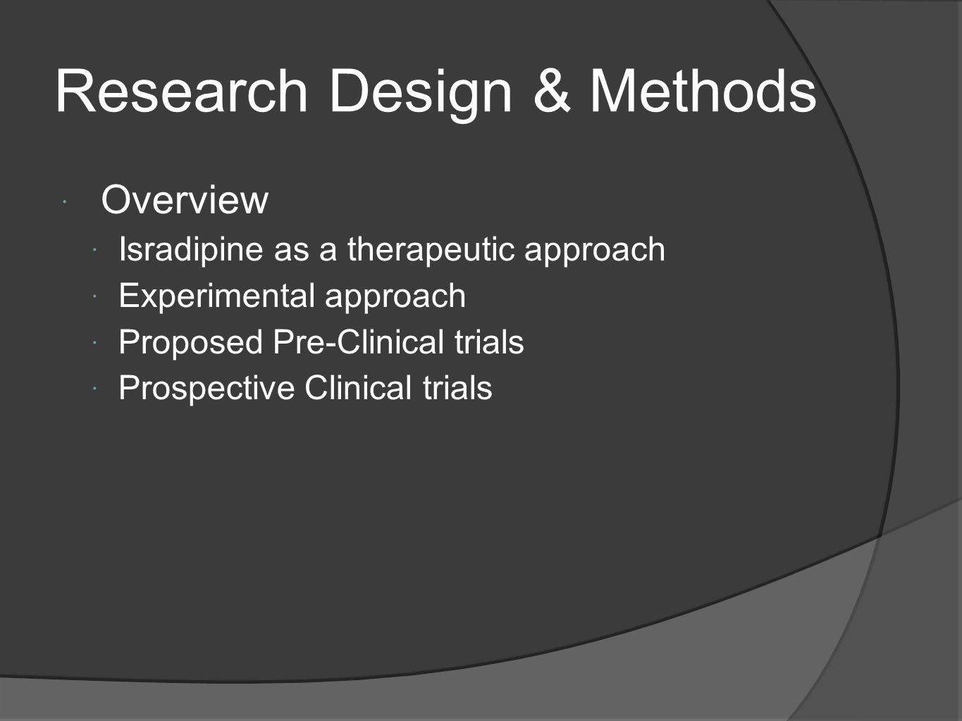 Research Design & Methods