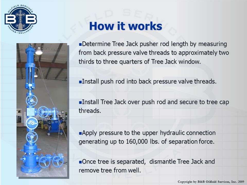How it works Determine Tree Jack pusher rod length by measuring