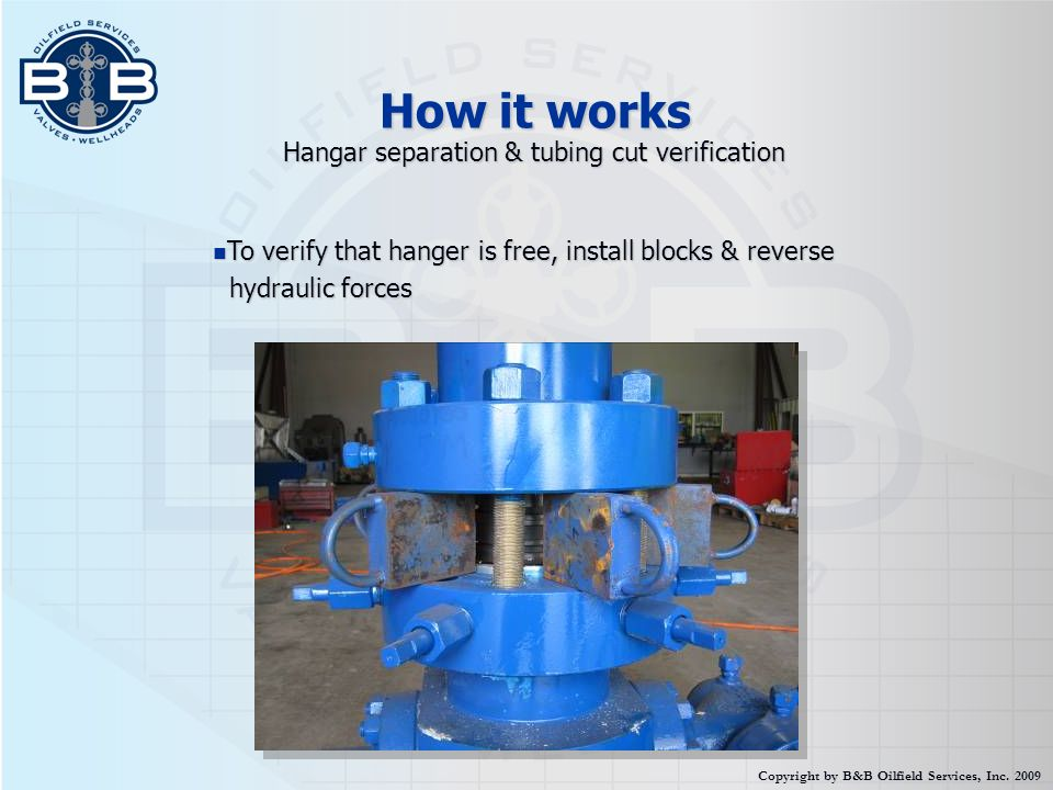 How it works Hangar separation & tubing cut verification