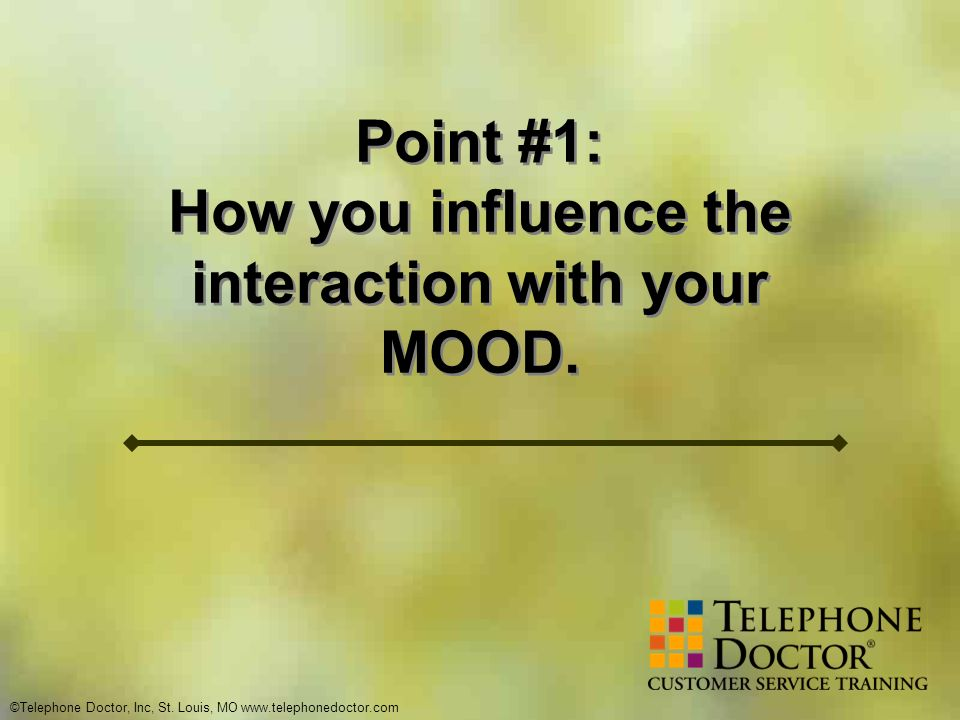 How you influence the interaction with your MOOD.