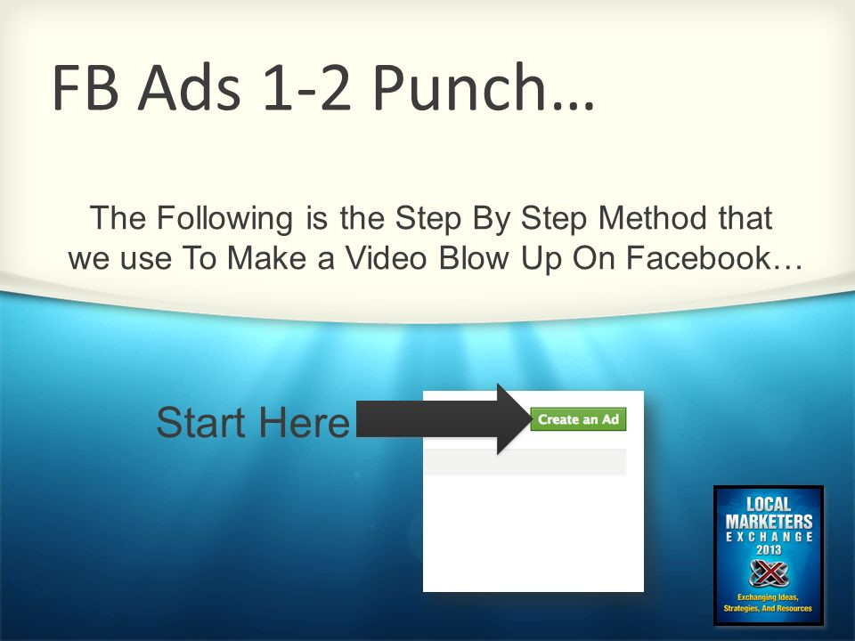 FB Ads 1-2 Punch… Start Here