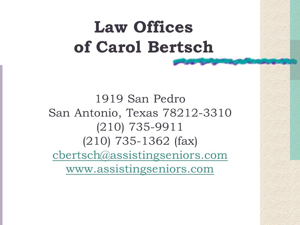 Law Offices of Carol Bertsch.