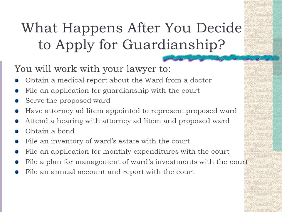 What Happens After You Decide to Apply for Guardianship