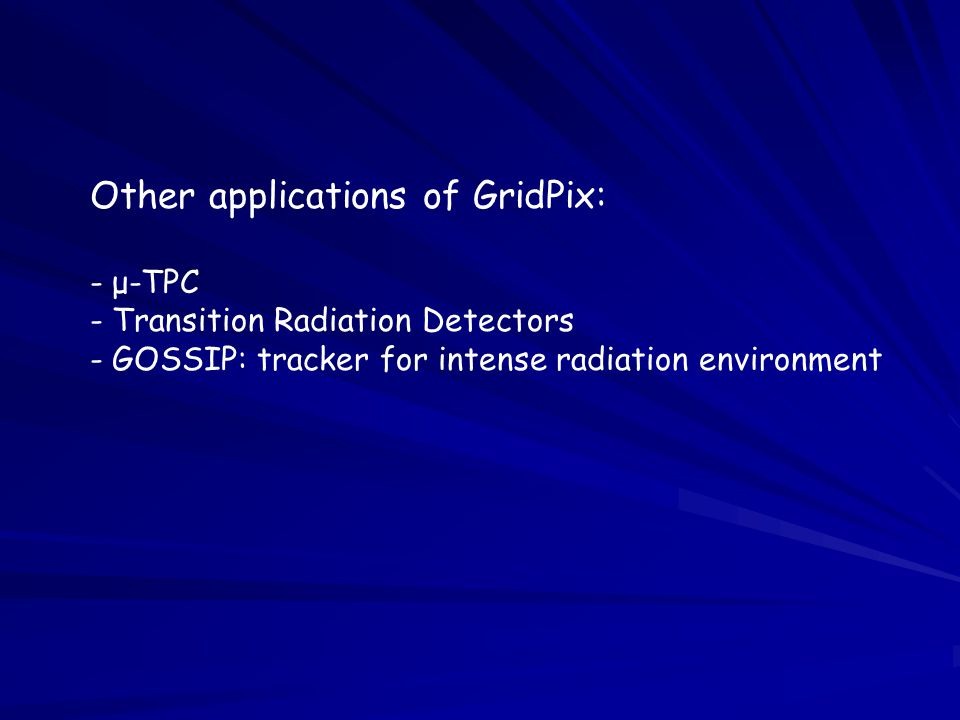 Other applications of GridPix: