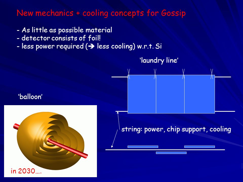 New mechanics + cooling concepts for Gossip