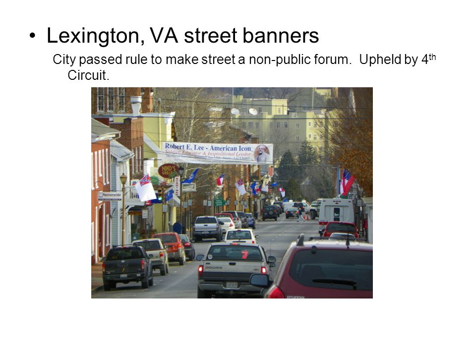 Lexington, VA street banners