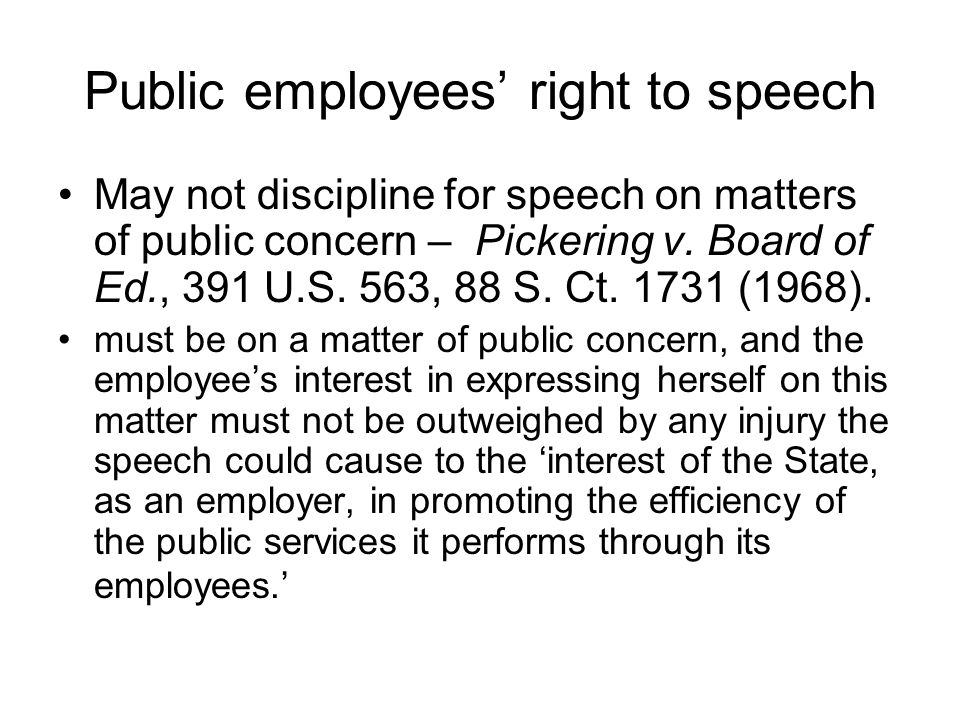 Public employees' right to speech