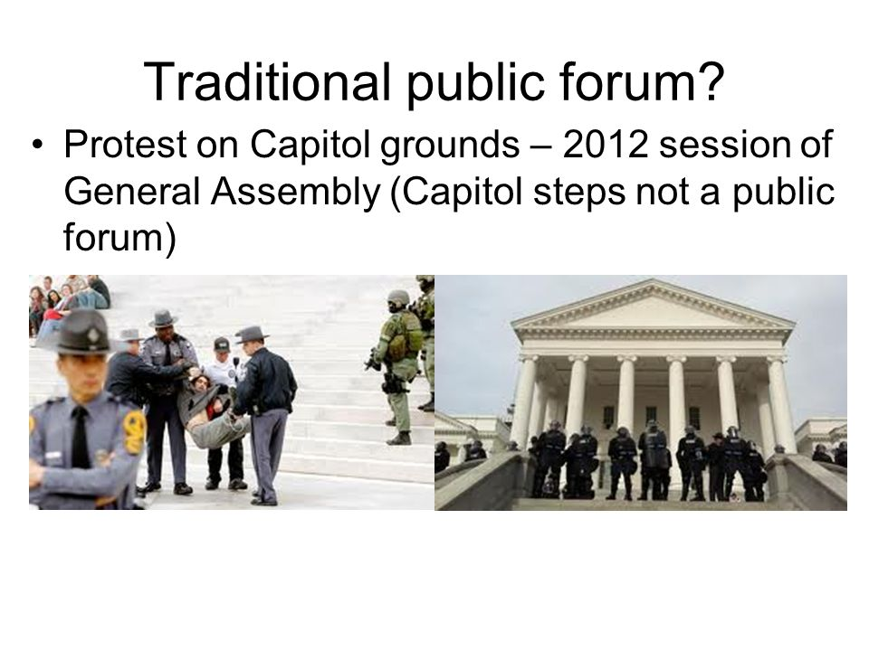 Traditional public forum