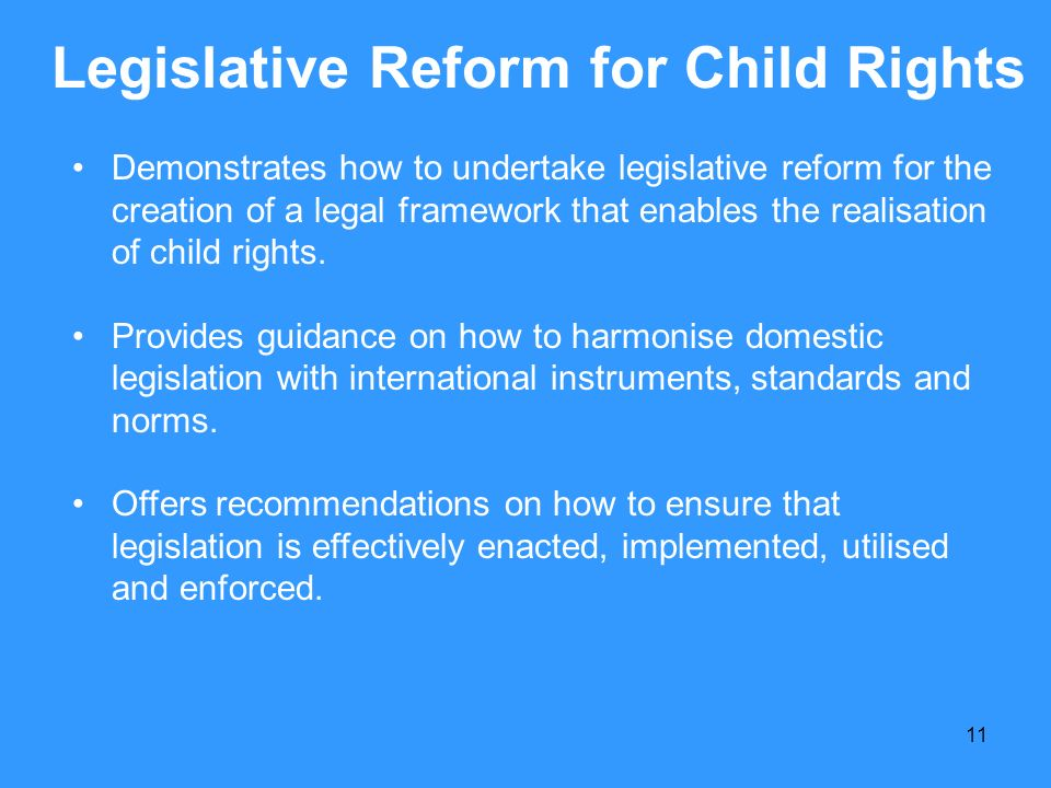 Legislative Reform for Child Rights