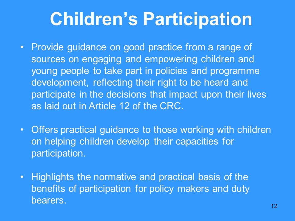Children's Participation