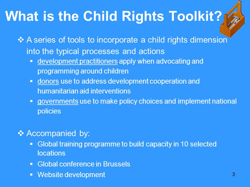 What is the Child Rights Toolkit