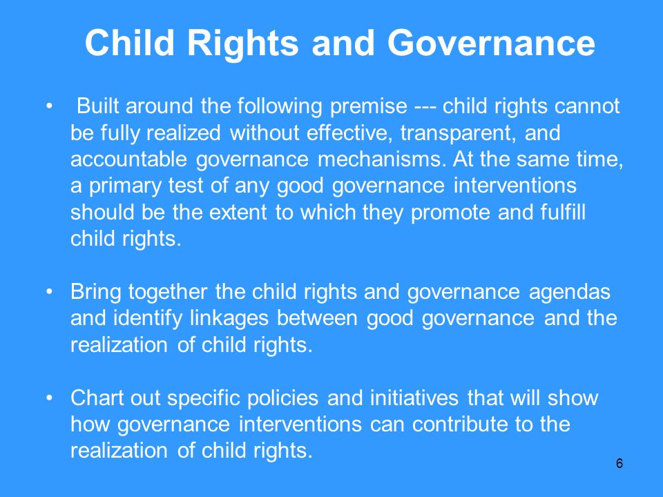 Child Rights and Governance