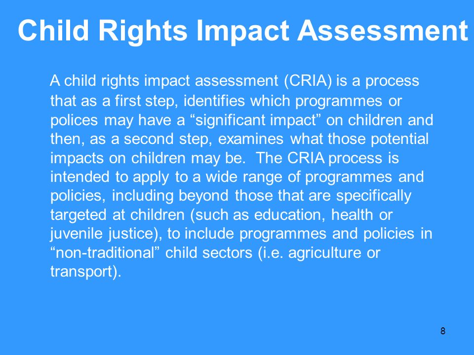 Child Rights Impact Assessment
