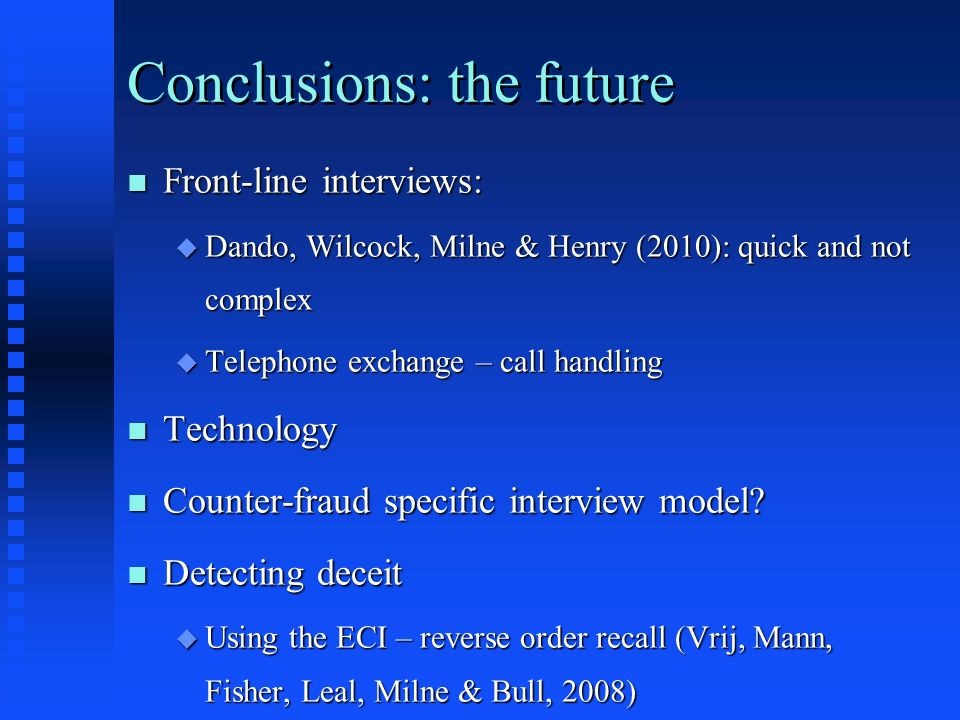 Conclusions: the future